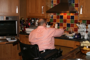 Steve and his Chaos in the kitchen at Christmas