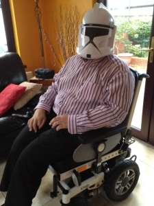 Stephen as a Storm Trooper!