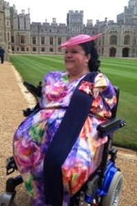 OUTSIDE WINDSOR CASTLE AFTER THE INVESTITURE, WEARING MY OBE WITH PRIDE